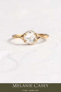 The Corset Ring features a rose cut diamond center, with a tapering 14k gold band. For more information on this piece, visit melaniecasey.com! Diamond Gemstone, Rose Cut Diamond, Perfect Gift For Her, Gifts For Her, Dream Ring, Cluster Ring, Gold Bands, Diamond Engagement Rings, Corset