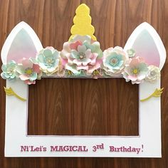 Unicorn theme Selfie/Photo Booth Frame Prop