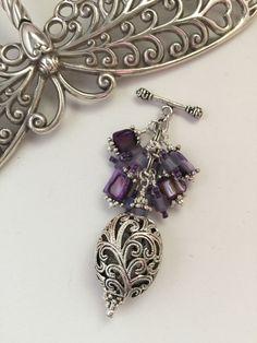 Purple Filigree Beaded Pendant Necklace #156 – Bead Dangle Design