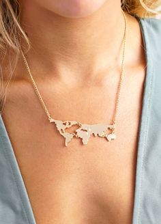 World Map Necklace – LVNDR