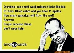 This is what my poor husband thinks right now!  He is taking college algebra and is super stressed! Funny Stuff, Funny Pics, Funny Pictures With Captions, The Funny, Math Humor, Lolsotrue, Belly Laughs, Have A Laugh, Hilarious Jokes