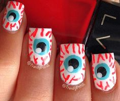 Eye Halloween nails