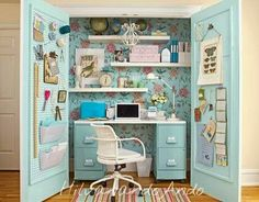 It's not usually reality that one gets their own sewing room, but a sewing closet is at least a tad closer to reality!