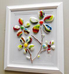 Fused glass wall art panel. Spring Summer flower by SerdinyaArt