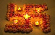 Happy Diwali Candle & Diya Decoration Ideas for home / Office. Deepavali Story, rangoli designs, drawings and Diwali Celebration pictures 2019 is here. Diwali Decoration Lights, Diya Decoration Ideas, Diwali Decorations At Home, Festival Decorations, Flower Decorations, Decor Ideas, Wedding Decorations, Craft Ideas, Diwali Craft