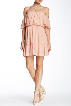 Off-The-Shoulder Flounce Hem Dress by Socialite on @HauteLook