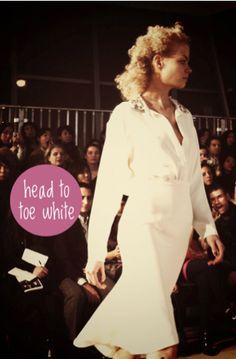favorite fall trend- head to toe white as seen at cynthia rowley #fashion
