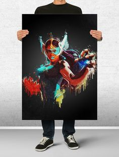 Symmetra Overwatch Poster Art Print Watercolor Wall Decor Game Print Poster