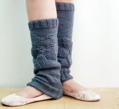 Leg warmer knitting project - for Hadley and Claire at dance class!