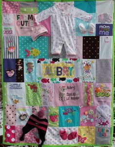 quilting baby clothing | Aubry's Baby Clothes Quilt