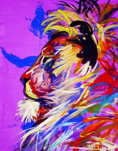lion...own a bear painting by this guy