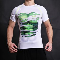 Gigante verde Camiseta Camiseta 3D Impreso Camisetas de Los Hombres Cortos dc película cosplay manga slim fit fitness clothing tops masculino