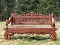 Beautiful collections for Garden at affordable prices if you want to increase the grace of you garden then here buy best wood quality benches. Shop Now: Garden Furniture Inspiration, Wooden Garden Benches, Cool Tables, Online Furniture, Outdoor Furniture, Outdoor Decor, Carving, Patio, Elephant