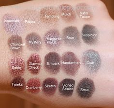 Mac Eyeshadow Swatches: Browns and Plums