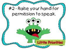 Classroom Freebies: WBT Monster Theme Rule Posters
