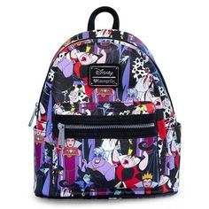 9c6bf31aa46 Disney Villains Print faux-leather Mini-Backpack