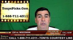 LSU Tigers vs. Wisconsin Badgers Pick Prediction NCAA College Football O...