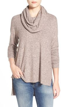 Gibson Gibson Mélange Knit Cowl Neck Top (Regular & Petite) available at #Nordstrom