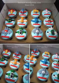 Planes Disney Ideas cupcakes for Planes Birthday Cake, Disney Planes Birthday, Toddler Birthday Cakes, Baby 1st Birthday, Dinosaur Birthday Party, Birthday Cupcakes, Cartoon Cupcakes, Cupcakes For Boys, Cute Cupcakes