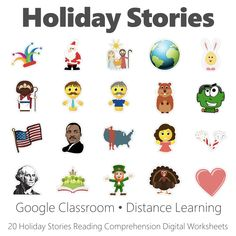 Holidayt Stories Reading Comprehension Google Classroom Digital Worksheet Collection Easter Worksheets, Thanksgiving Worksheets, Halloween Worksheets, Halloween Activities, Holiday Activities, Google Classroom, Learning Resources, Student Learning, Read Across America Day