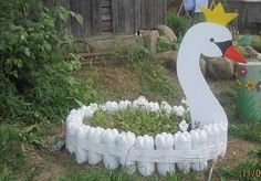 10 DIY Garden Creature Ideas Made from Recycled Materials - http://www.amazinginteriordesign.com/10-diy-garden-creature-ideas-made-recycled-materials/