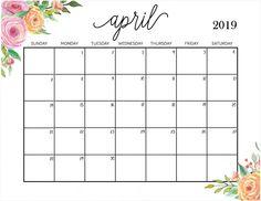 144 Best April 2019 Calendar Images In 2019