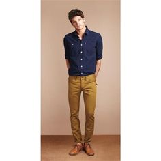The Albany Relaxed Fit Shirt, Cashmoor skinny leg jeans and Wainscott Brogues.