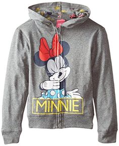 Disney Girls' Minnie Mouse Minnie Reversible Zip Up Hoodie -- More info…