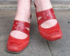 This is Stacey of Village Shoes, Ashland Oregon. Look at her shoes. Aren't they beautiful? They're Fidji shoes made in …