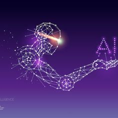 particles geometric art line and dot of AI Technology. graphic design concept of future. - line stroke weight editable Intelligent Technology, Artificial Intelligence Technology, Mosaic Pictures, Stock Image, Blurred Background, Geometric Art, Marketing Digital, The Help, Vector Free