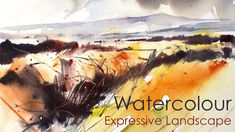 Loose expressive watercolour landscape demonstration video by Adrian Homersham. Details of brushes and equipment used in this demonstration are detailed belo. Abstract Watercolor Tutorial, Watercolor Video, Watercolor Painting Techniques, Watercolor Landscape Paintings, Watercolour Tutorials, Watercolor Artwork, Abstract Landscape, Watercolor Artists, Painting Videos