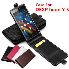 Classic Luxury Advanced Top Leather Flip Leather case For DEXP Ixion Y5 / DEXP Ixion Y 5 Phone Cover Case With Card Slot