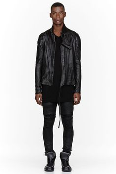 JULIUS Black Lambskin Leather Jacket