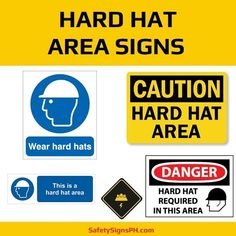 Aimed at preventing serious head injuries at workplace, our mandatory hard hat area signs will ensure your fa. Construction Safety, Hard Hats, Workplace, Philippines, Graphics, Signs, Art, Art Background, Helmets