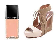 Nearly Nude - Saunter around your next garden party with this peachy keen pairing. #illamasqua #purity #shopbop