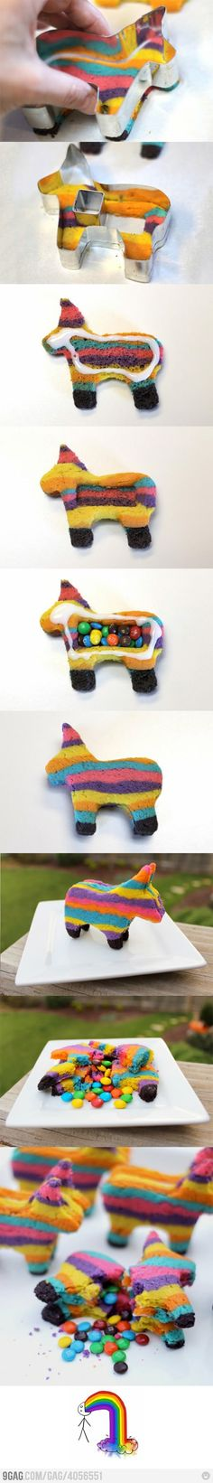 Unicorn pinata cookies! :)