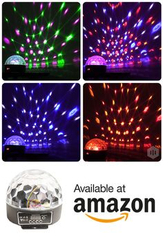 Party lights for house parties, frat parties, children's birthday parties, KTV and weddings. Click this Pin ^ to get 40% OFF our LED Disco Ball