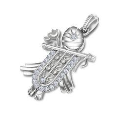Exclusive Krishna Pendant In 925 Sterling Silver Round Cut White CZ #adorablejewelry #KrishnaPendant #WeddingBirthdayAnySpecialDay