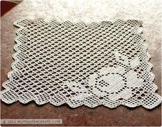 Crochet Cactus, Crochet Motif, Crochet Stitches, Free Crochet, Knit Crochet, Crochet Patterns, Crochet Placemats, Fillet Crochet, Crochet Round