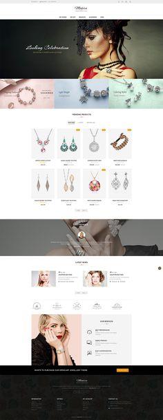 #Jewelry #Fashion #Women #eCommerce #Modern - #Opencart Multi Purpose #Responsive #Theme