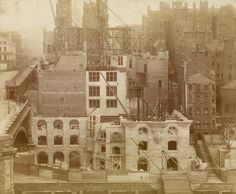 The Scotsman building under construction, c1901. Edinburgh, 20-36 North Bridge
