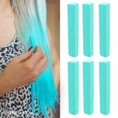 FROZEN MINT – 6 Teal Mint Green Hair Chalks #minthair #tealhair #mint #teal #hairchalks #haircolor #hairdye #coloredhair #hair