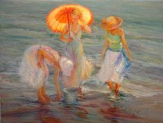 """""""Looking For Sea Glass"""" by   Diane Leonard"""