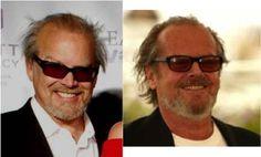 Selecionamos alguns indivíduos que se parecem com celebridades famosas.