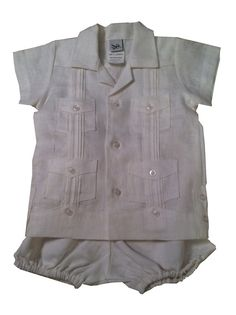 Hey, I found this really awesome Etsy listing at https://www.etsy.com/listing/152557528/infant-guayabera-shirt-with-bubble