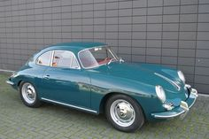 356 B t5 coupé T5 1961 (Fjord green over red):