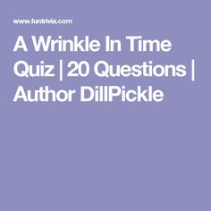 wrinkle in time essay questions At the time, l'engle already had six books to her name, but publishers  a  wrinkle in time also asks these huge questions, really, about the.
