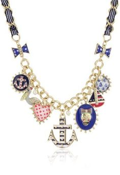 "Betsey Johnson ""Ivy League"" Anchor and Skull Multi-Charm Frontal Necklace Betsey Johnson,http://www.amazon.com/dp/B009ALGUH2/ref=cm_sw_r_pi_dp_uJ4wrb5C23C846B7"