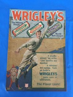 YEAR OF THE CUBS!   1918 Wrigley's Gum Chicago Cubs Ad! The Athlete's Friend