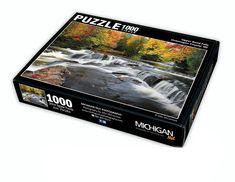 Custom Branded Jigsaw Puzzles by Michigan Nut Photography Michigan Waterfalls, Waterfall Photo, Mackinac Bridge, Jigsaw Puzzles, Bond, Photography, Photograph, Fotografie, Photoshoot